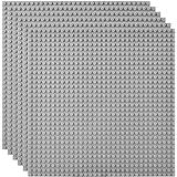 Lekebaby 基礎板 クラシック 互換性あり 6枚セット 25.5×25.5cm 32×32ポッチ グレー
