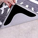 Rug Grippers with Super Stickiness- Anti Curling Carpet Tape Non-Slip Area Keeps Your Rug in Place and Makes Corners Flat for