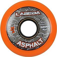 Labeda WheelsインラインローラーホッケーGripperアスファルトアウトドアオレンジ68mm 85A x1