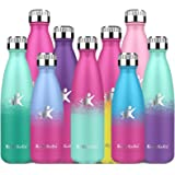 KollyKolla Stainless Steel Water Bottle - 750ml Double Walled BPA Free Flask, Vacuum Insulated Drinks Bottles Keeps Hot & Col