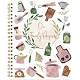 """Recipe Notebook Journal Blank Cookbook Recipe Book 8.5"""" x 11"""" Blank Recipe Book to Write in with Tabs Stickers"""