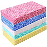 JEBBLAS Disposable Dish Cloth Dish Towels and Reusable Cleaning Towels, Handy Cleaning Wipes,Handi Wipe 5 Colors, 60 Sheets/P