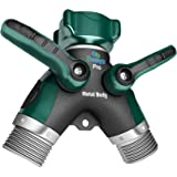 2wayz All Metal Body Garden Hose Splitter. Newly Upgraded (2017): 100% Secured Bolted & Threaded. Easy Grip Smooth Long Handl