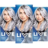 Schwarzkopf Live Ultra Bright or Pastel Colouration, Steel Silver Number 098 - Pack of 3