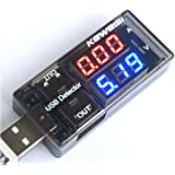 Charger Doctor Digital Multimeter USB Tester Current Voltage Meter Detector Battery Monitor with Dual Outputs for Solar Panel