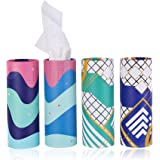 Brandon Super, Car Tissue, Disposable Face Towel, Perfect For Car Cup Holder, Canned Tissue, Durable, Soft And Comfortable (4
