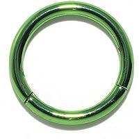 [凛RIN] サージカルステンレス ワンタッチセグメントリング ボディピアス 軟骨ピアス フープ(18G・12mm/グリ…