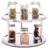 Sagler 2 Tier Lazy Susan Turntable 360-degree Lazy Susan Organizer use for a Spice Organizer or Kitchen Cabinet Organizers St