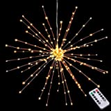 Hanging Decor Lights,200 Led Battery Powered Fairy Lights, Fireworks Light with Remote Control, Waterproof Starburst Lights f