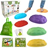 Hapinest Turtle Steps Balance Stepping Stones Obstacle Course Coordination Game for Kids - Indoor or Outdoor Play Equipment T