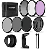 Neewer 55MM Professional UV CPL FLD Lens Filter and ND Neutral Density Filter(ND2, ND4, ND8) Accessory Kit for Sony A37 A55 A