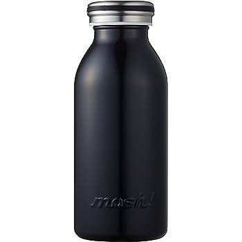 水筒 真空断熱 スクリュー式  マグ ボトル 0.35L ブラック mosh! (モッシュ! )