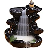 Ceramic Glaze Backflow Cone Incense Smoke Burner Censer Tower Holder for Home Decoration Relieving Stress Relaxing Mood Style