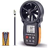 BTMETER Digital Anemometer Handheld BT-100 Wind Speed Meter Gauge, Accurately Measure Wind Temperature Speed CFM with MAX/MIN