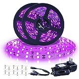 (40FT/12M) - Black Light Strip, 40ft/12m Flexible UV Black Light with LED kit, 720 UV lamp Beads, 12V Black Light, is not Wat