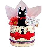 おむつケーキ [ 女の子/ジジ : 魔女の宅急便 / 1段 ] パンパース S12枚 (出産祝い に Sサイズ)1501 ダイパーケーキ 赤ちゃん ベビーシャワー ギフト 誕生日プレゼント