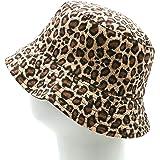 Bucket hat for Women & Men, Foldable Leopard Pineapple Print Fisherman Sun Cap, Double-Side-Wear Reversible Bucket Hat