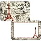 CounterArt Set of 4 Reversible Decofoam Placemats, Vintage Paris