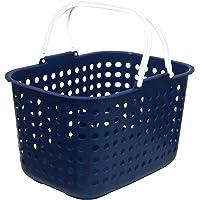 平和工業 ランドリー バスケット ドット 浅型 ブルー