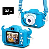 goopow Kids Camera Toys for 3-8 Years Old Boys and Girl, Kids Digital Video Camera for Children with Shockproof Soft Cover, B