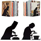 By the Book - Cooking - Decorative Black Metal Bookend Two Cooks, Kitchen Bookends, Cooking Books Bookend, Gifts for Chefs