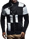 [Leif Nelson] [Leif Nelson タートルネックカラーのジャケット LN5495 Men`s Kni…