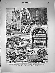 ロールスロイスの家の公共文書館のドゥームズデイ・ブック1882の旧式な印刷物