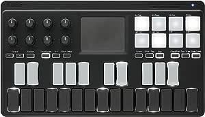 KORG 定番 USB/ワイヤレス オールインワン モバイルMIDIキーボード nanoKEY Studio 音楽制作 DTM A4サイズ コンパクト設計で持ち運びに最適 すぐに始められるソフトウェアライセンス込み 25鍵