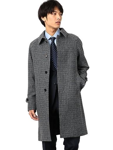 William Bliss Kersey Tweed Balmacaan Coat 3125-157-0434: Navy