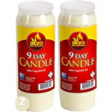 Ner Mitzvah 9 Day Memorial Yahrtzeit Candle Pack of Two
