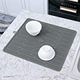 JEMYCO Dish Drying Mat (FDA Food-Grade Silicone), Drying Mat for Kitchen Counter, Hot Pads for Kitchen, Silicone Dish Drying