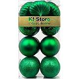 KI Store Large Christmas Balls Green 4-Inch Shatterproof Christmas Tree Ball Ornaments Decorations for Xmas Trees Wedding Par