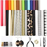 SGHUO 30pcs Faux Leather Sheets Fabric Sheets for Making Earrings, Bows, Jewelry, Wallet, and DIY Sewing Craft