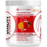 Vitality Vitamin Powder by NutraOne – Powdered Vitamin and Mineral Supplement (Fruit Punch - 30 Servings)