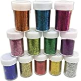 Slime Supplies Glitter Powder Sequins for SlimeArts Crafts Extra Solvent Resistant Glitter Powder ShakersBulk Acrylic Polyest