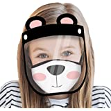 ABG Accessories Kids Face Shield with Matching Little Girls Reusable Fabric Mask