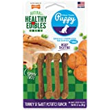 Nylabone Healthy Edibles Puppy Chew Treats, Turkey & Sweet Potato, Petite, 4 Count