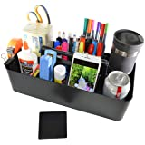 New Plastic Portable Craft Storage Organizer Caddy Tote, DIY Divided Basket Bin with Handle for Craft, Sewing, Art Supplies -