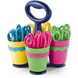 """Westcott School Scissor Caddy with 24 Pointed 5"""" Kids Scissors with Anti-Microbial Protection"""