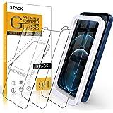 【Amazon限定ブランド】iPhone 12 Pro Max フィルム 3枚入 ガラスフィルム - 高透過率 Arae 飛散防止 9H 旭硝子材 アイフォン12プロ マックス 6.5インチ 2020新型 対応用 強化ガラス (Apple iPhon