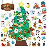 TOBEHIGHER Felt Christmas Tree - 3.1 FT Wall Felt Christmas Tree for Kids with 30 pcs Ornaments, DIY Xmas Gifts for Christmas