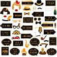 49pcs Roaring 20s Photo Booth Props Great Gatsby Party Decorations 1920s Party Supplies 20's Twenties Party Favors Jazz Flapp