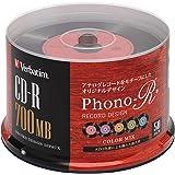Verbatim バーベイタム データ用 CD-R レコードデザイン 700MB 50枚 カラーMIX Phono-R (フォノアール) SR80FHX50SV7