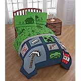 Minecraft Twin Kid's Bedding Sheet Set, 3 Piece (Green Set)