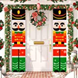 TOPLEE 2 Pack Christmas Porch Sign, Christmas Decorations Outdoor Indoor Christmas Hanging Banner Sign