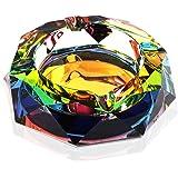 Okuna Outpost Rainbow Crystal Ashtray (5 Inches)