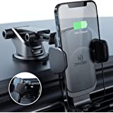ZeeHoo Wireless Car Charger Mount with USB-C, 10W 7.5W Auto-Clamp Fast Wireless Charger Air Vent Phone Holder Compatible iPho