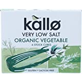 Kallo Low Salt Vegetable Stock Cubes, 66g