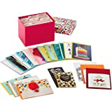 Hallmark Handmade All Occasion Boxed Greeting Card Assortment, Pink Floral (Pack of 20)—Birthday Cards, Baby Shower Cards, We