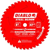 Diablo D0842CF 8-inch Steel Demon 42T Cermet II Carbide Ferrous Metal Saw Blade